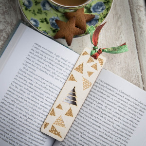 Choinka papier - zakładka do książki
