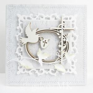 Chrzest - kartka w pudełku c