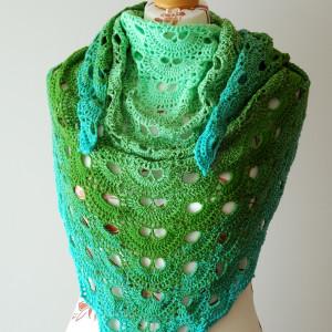 Chusta zielono-turkusowa