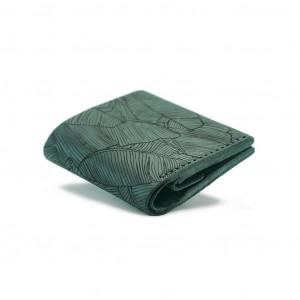 Ciemnozielony skórzany portfel ręcznie robiony