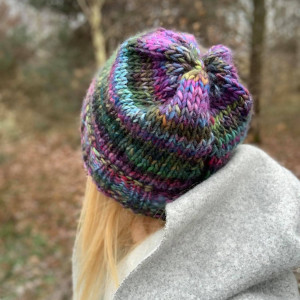 ciepła  multikolor czapka