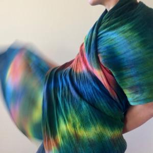 Ciepły kolorowy wełniany szal