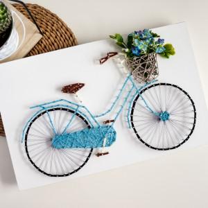 """""""Colorful design"""" Rower z bukietem kwiatów"""