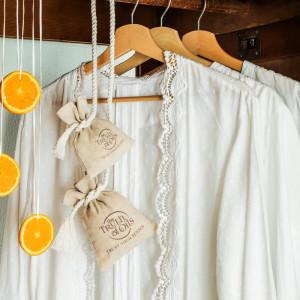Cynamon i pomarańcza- woreczki do szafy rozm. M