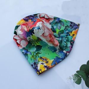 Czapka dresowa kwiaty