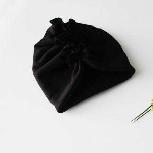 Czapka turban czarny polar zima falbanka rozmiary