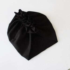 Czapka turban dresowy czarny