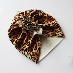 Czapka turban dresowy leopard