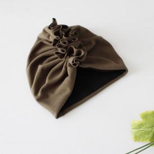 Czapka turban khaki podwójny falbanka rozmiary