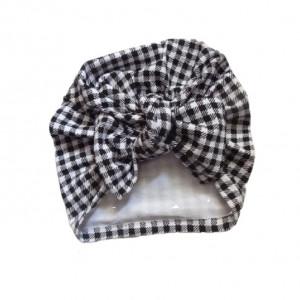 czapka turban kokarda krateczka biel czerń