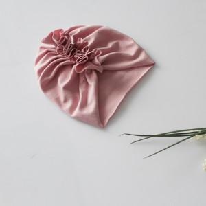 Czapka turban LEKKI brudny róż wybór rozmiaru