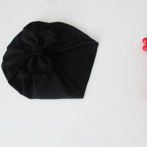 Czapka turban LEKKI czarny kokarda rozmiary modele