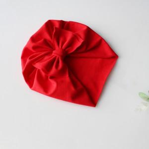 Czapka turban LEKKI czerwień kokarda rozmiary