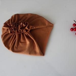 Czapka turban LEKKI karmel wybór rozmiaru