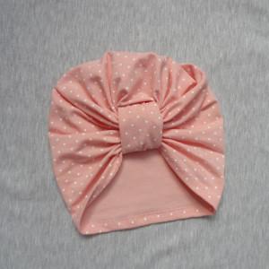 czapka turban patka róż maczek bawełna