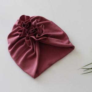 Czapka turban podwójna wrzos rozmiary