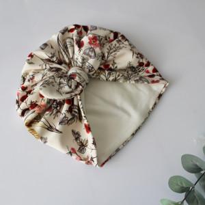 Czapka turban podwójny motylki kokardka