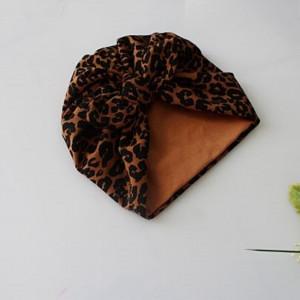 Czapka turban podwójny panterka brąz rozmiary