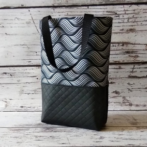 Czarna torebka z ekoskóry