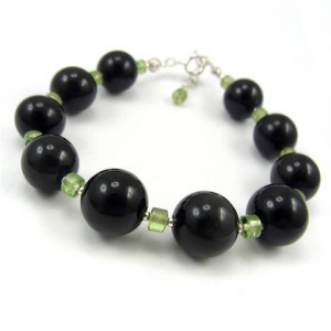 Czarne oliwki - bransoletka