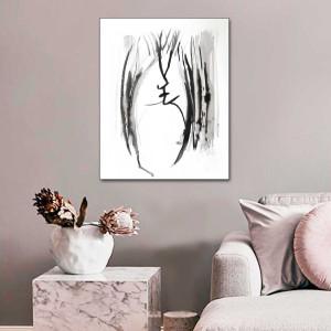 Czarno biała Grafika pocałunek 5, 70 x90