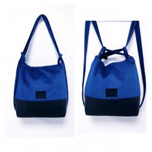 Czarno niebieski torebko plecak  Tunis