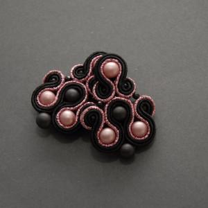 czarno-różowe kolczyki lub klipsy sutasz 2