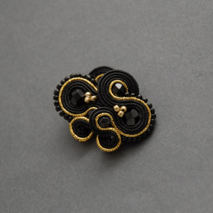 czarno-złote kolczyki lub klipsy sutasz 5