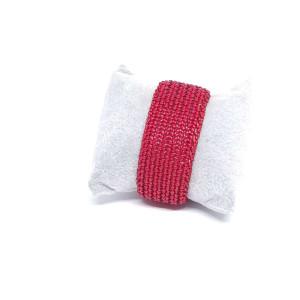 Czerwona bransoletka z koralików