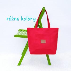 Czerwona torebka z tkaniny zamszowej Alicja I