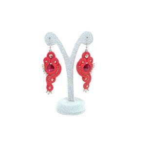 Czerwone kolczyki siam - kolekcja Lady in Red