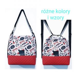 Czerwony torebko plecak w damskie gadżety #3w1