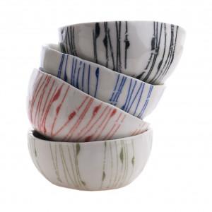 Cztery porcelanowe niewielkie miseczki