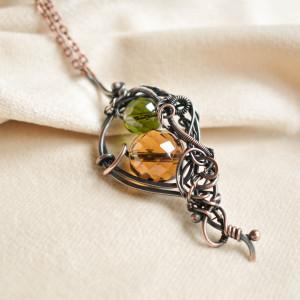 Daeron - naszyjnik ze szklanymi kryształkami