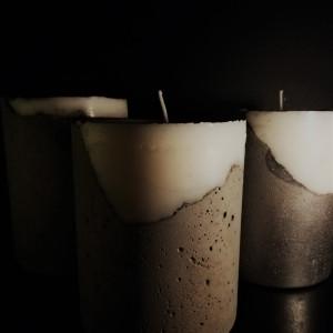 Dekoracyjna świeca w betonowej oprawie