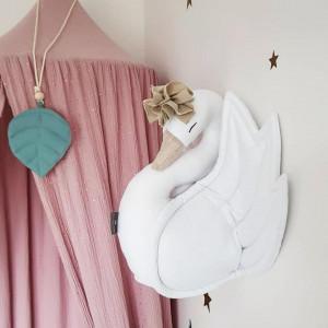 Dekoracyjny Łabędź na ścianę - biały