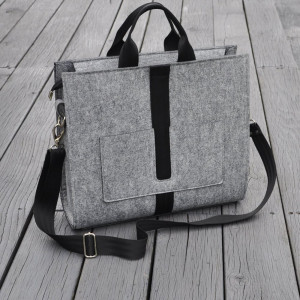 Designerska torba z filcu - szara