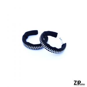 Designerskie czarne kolczyki koła 4cm