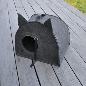 Domek, budka, legowisko dla kota - grafitowy