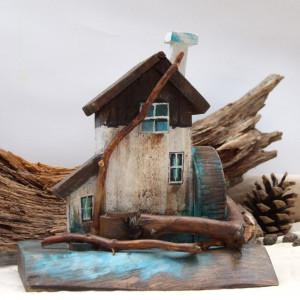 Domek z drewna, dekoracja - Młyn