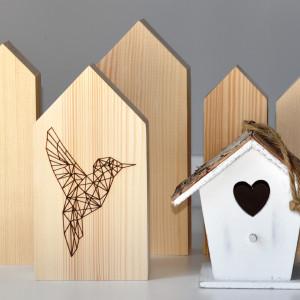 Zestaw 5 drewnianych domków