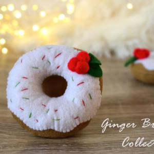 Donut filcowy Świąteczny / Jedzenie z filcu