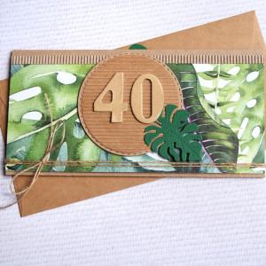dowolna liczba - urodzinowa kartka kopertówka