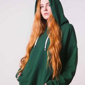 Dres damski w kolorze butelkowej zieleni