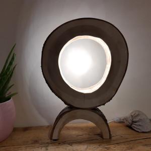 Drewniana lampa ,led