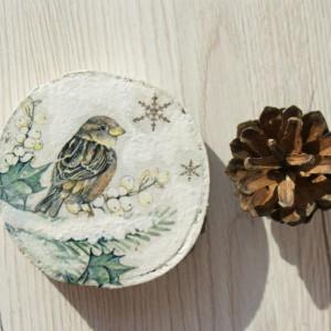 drewniana podkładka/dekoracja świąteczna 4