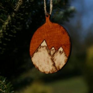 drewniana zawieszka świąteczna