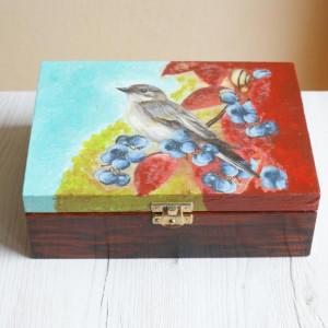 drewniane pudełko decoupage 2