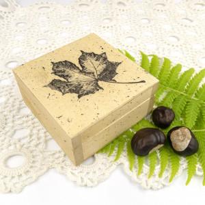 Drewniane pudełko - liść III