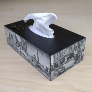 Drewniane pudełko na chusteczki - Śląsk